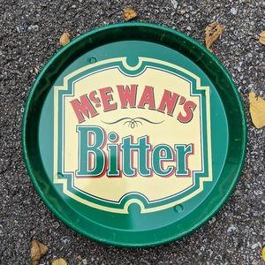 "VTG MCEWANS BITTER Metal 12"" Beer Tray"